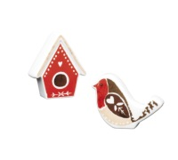 Little Red Robin Set of 2 Bone China Salt & Pepper Pots