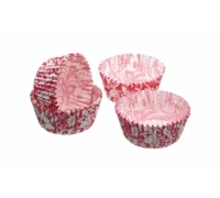 Sweetly Does It Pack of 80 Pink Floral Petit Fours / Treat Cases