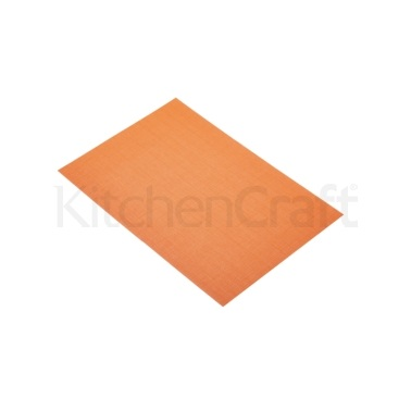 KitchenCraft Woven Brights Orange Placemat