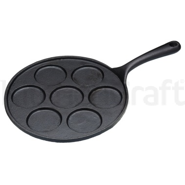 KitchenCraft Cast Iron 7 Hole Blinis Pan
