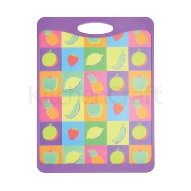 KitchenCraft Large Fruit Design Cut & Serve Reversible Board