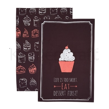KitchenCraft Set of 2 Chalkboard Tea Towels