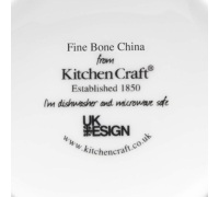 KitchenCraft Fine Bone China Blue Stripe Barrel Mug