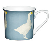 KitchenCraft Set of Four Fluted Fine Bone China Goose Mugs