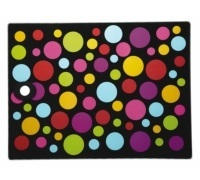 Kitchen Craft Toughened Glass Rectangular Worktop Protector - Polka