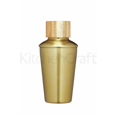Bar Craft 250ml Brass Finish Mini Cocktail Shaker