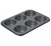 Chicago Metallic Non-Stick Six Hole Giant Muffin Pan