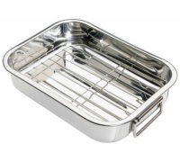 Kitchen Craft Stainless Steel 27.5cm x 20cm Roasting Pan