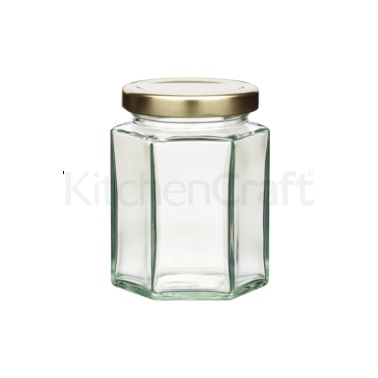Home Made 227ml Hexagonal Jar with Twist-off Lid
