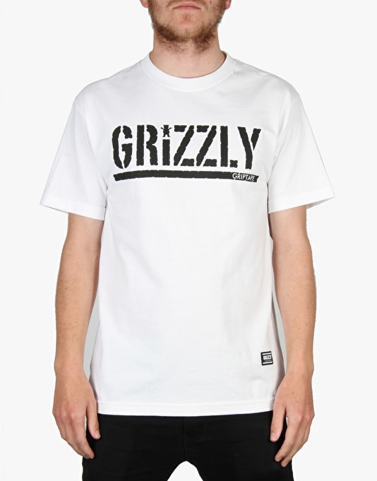 Grizzly OG Stamp Logo T-Shirt - White