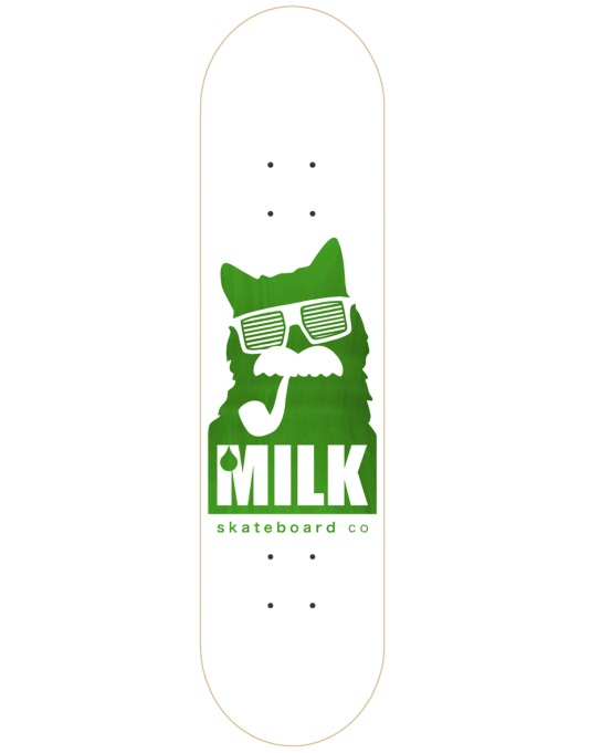 Milk Logo Sunnies Skateboard Deck - 8""
