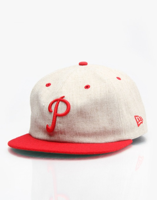New Era MLB Philadelphia Phillies Flannel Panel Snapback Cap - Brown