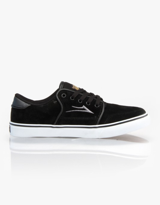Lakai Carlo Skate Shoes - Black/Grey Suede