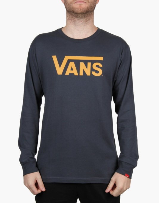 Vans Classic L/S T-Shirt - Navy/Mineral Yellow