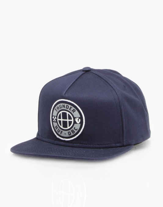 Thunder x HUF Mainline Patch Snapback Cap - Navy