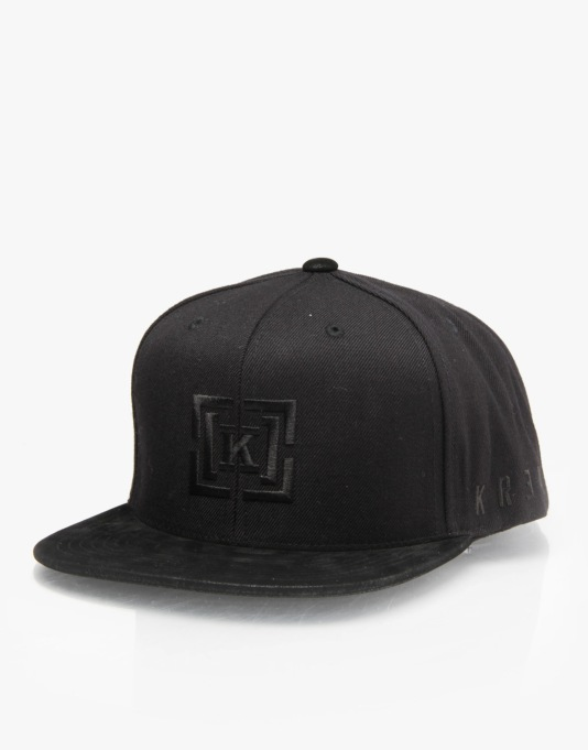 Kr3w Shadow Snapback Cap - Black/Pattern