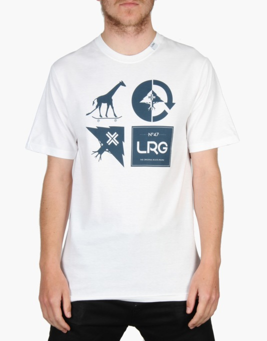 LRG Logo Mash Up T-Shirt - White