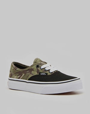 Vans Authentic Boys Skate Shoes - (2 Tone Camo) Black/White