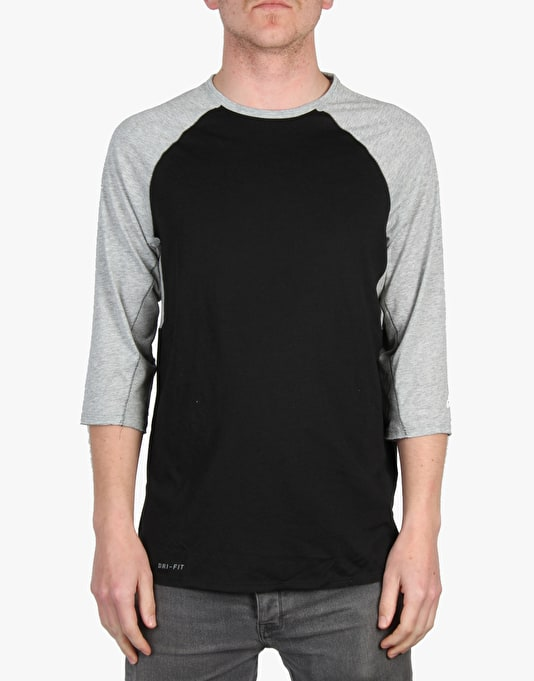 Nike SB Skyline Dri-Fit Cool Three Quarter Crew - Black/Heather/White
