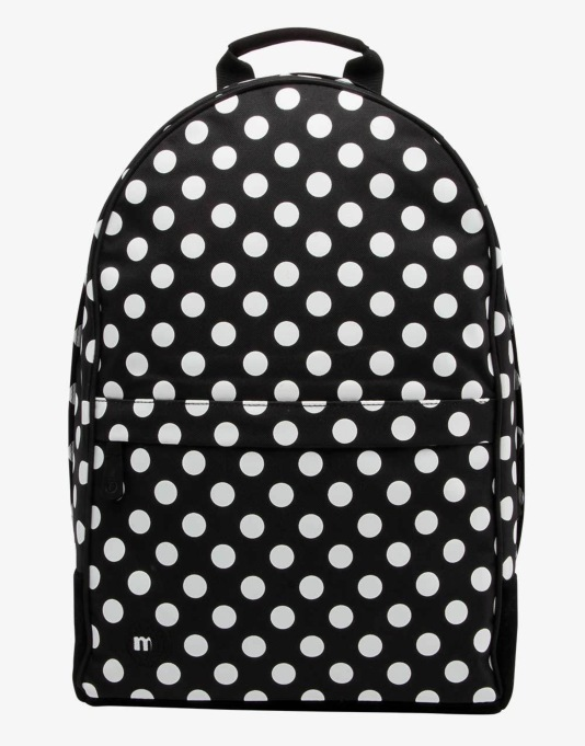 Mi-Pac Maxwell All Polka Backpack - Black/White