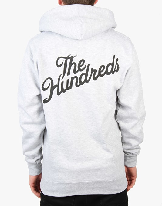 The Hundreds Forever Slant Zip Hoodie - Athletic Heather