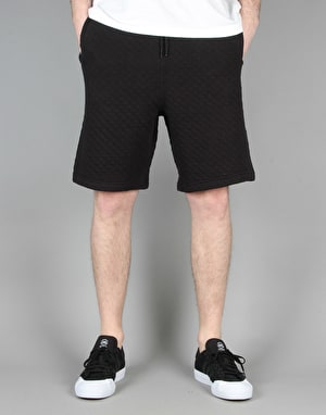Route One Quilted Sweat Shorts - Black