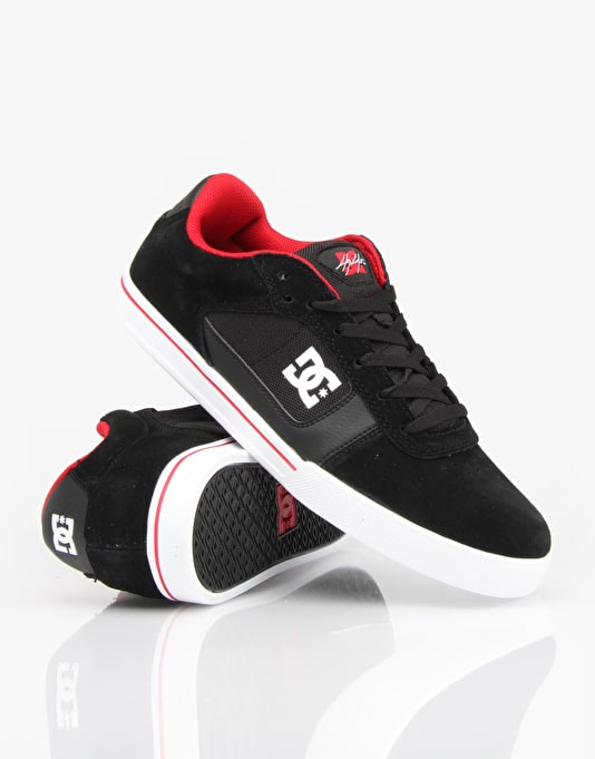 DC Cole Pro Skate Shoes - Black/Red