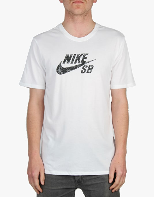 Nike SB Dri-Fit Geo Dye Icon T-Shirt - White/Black
