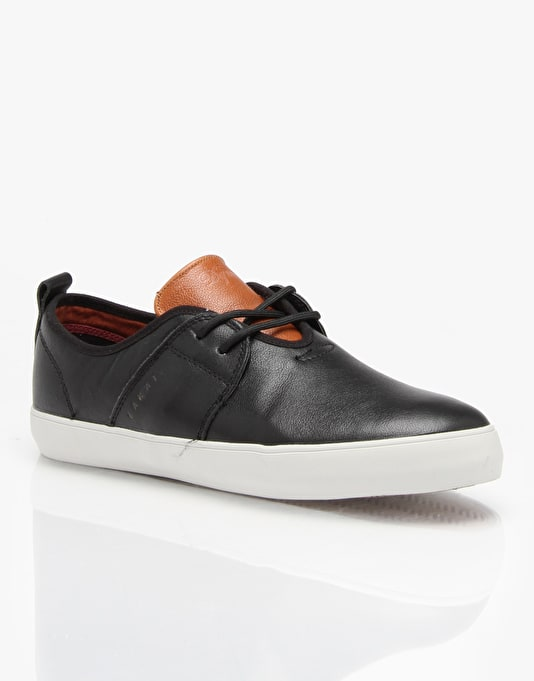 Lakai x DQM Albany Skate Shoes - Black/Brown Leather