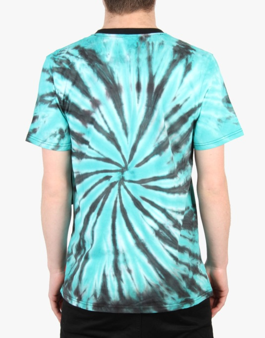 Asphalt Yacht Club Starburst Tie Dye T-Shirt - Black/Green