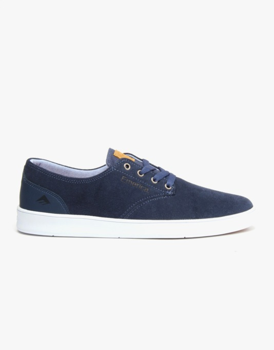 Emerica The Romero Laced Skate Shoes - Blue/White/Blue