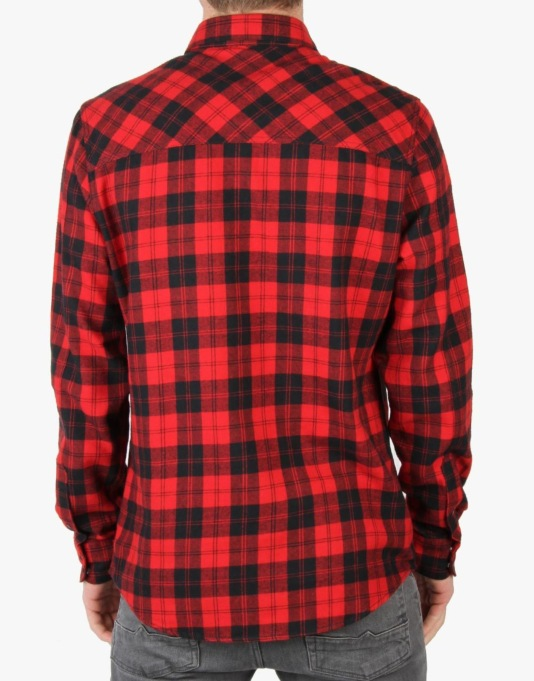 Volcom x Spitfire Plaid Shirt - Drip Red
