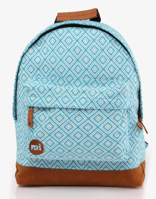 Mi-Pac Peruvian Diamond Backpack - Turquoise
