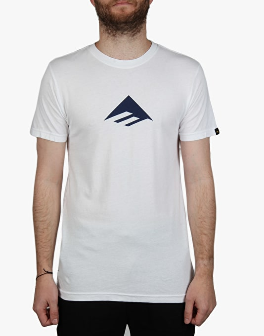 Emerica Triangle 7.1 T-Shirt - White/Navy