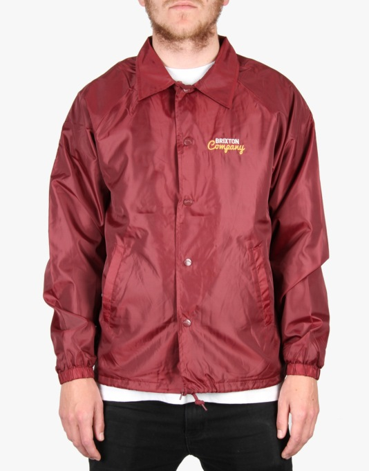 Brixton Ditmar Windbreaker Jacket - Dark Red