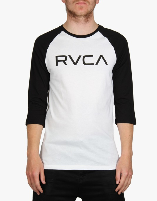 RVCA Big Raglan T-Shirt - White Black