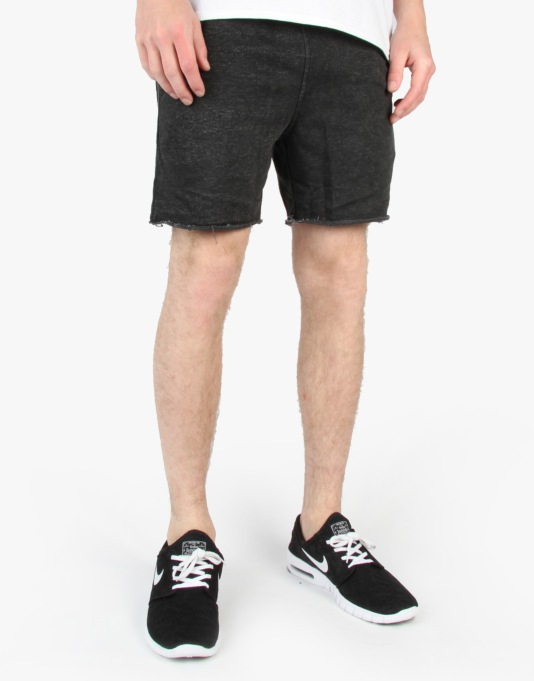 Altamont Vamo Fleece Shorts - Black/Grey