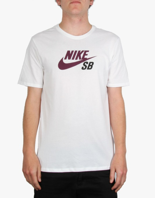 Nike SB Dri-FIT Icon Logo T-Shirt - White/Mulberry/Black