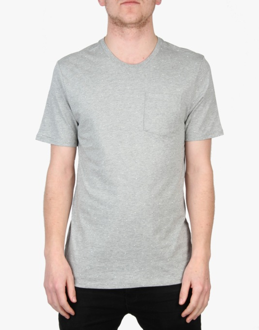 Nike SB Allover Micro Dot Print T-Shirt - Dk Grey/Heather/White