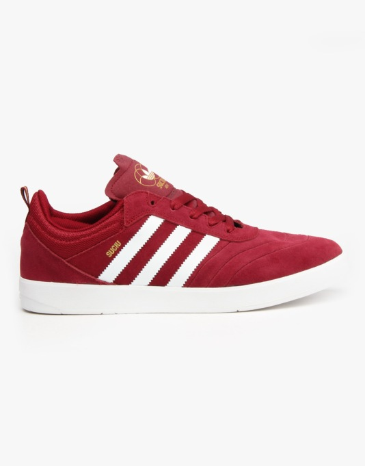 Adidas Suciu ADV Skate Shoes - Collegiate Burgundy/White/Gold Met.