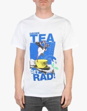 Lovenskate Drink Tea, Get Rad T-Shirt - White