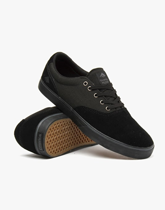 Emerica Provost Slim Vulc Skate Shoes - Black/Black