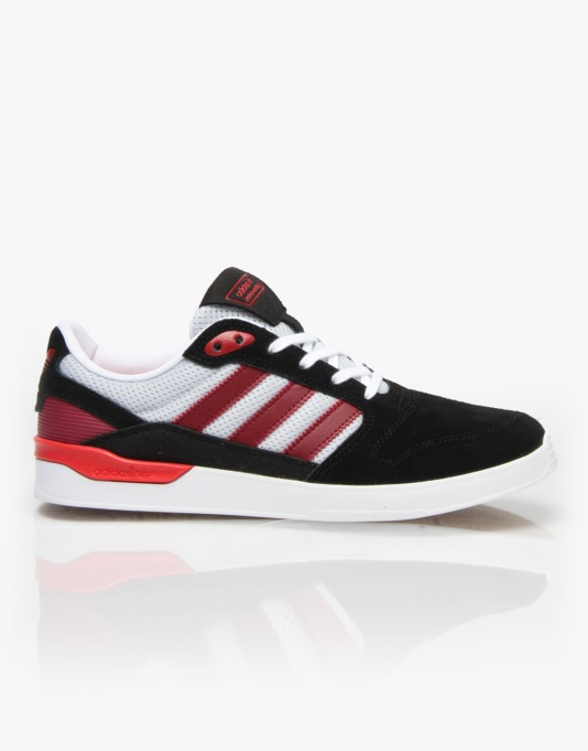 Adidas ZX Vulc Skate Shoes - Core Black/Nomad Red/Scarlet