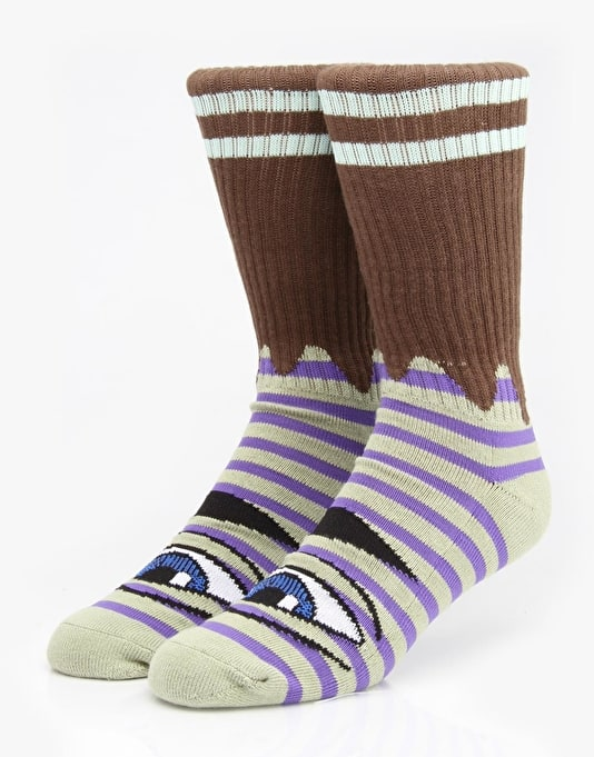 Toy Machine Sect Eye Stripe Socks - Green