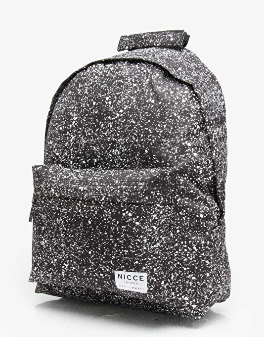 Nicce Speckle Backpack - Black/White