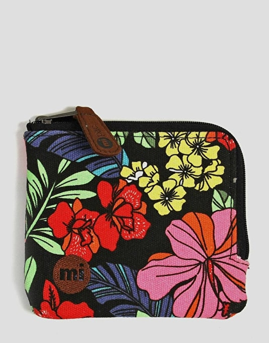 Mi-Pac Coin Holder - Tropical Palm Neon Black