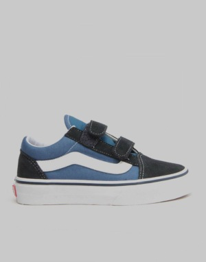 Vans Old Skool V Youth Skate Shoes - Navy