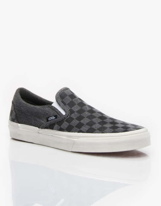 Vans Classic Slip On - (Overwashed) Black/Checker