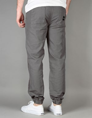 Route One Cuffed Chinos - Charcoal