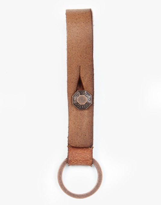 Brixton Agent Key Chain - Brown/Copper